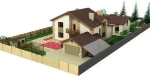 Как разместить дом и гараж на участке