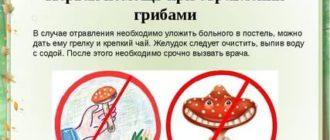 Что делать при отравлении ядовитыми грибами