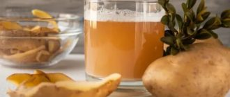 Картофельный отвар для желудка