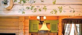 Декорирование стен на даче