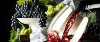 Фото бокала вина с гроздью винограда